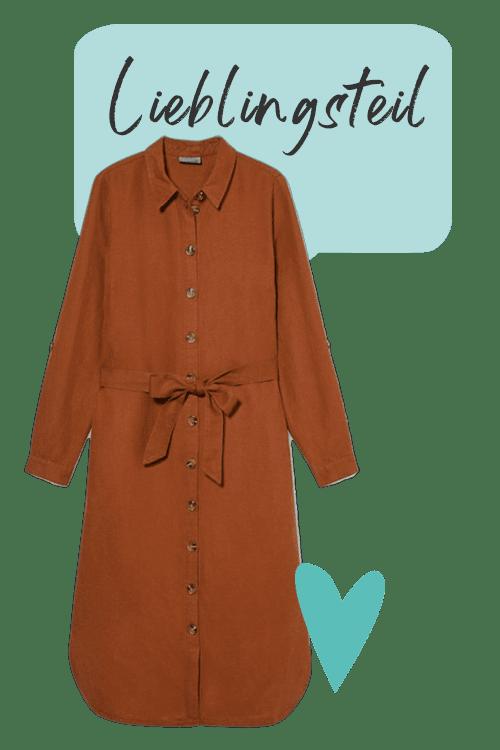 Rostbraunes Kleid